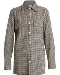 Wales Bonner | Isaiah Gingham Linen-blend Shirt | Lyst