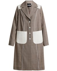 House of Holland - Prince-of-wales Check Power-embroidered Coat - Lyst