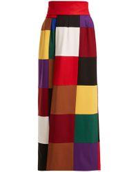 1690aa770 Sara Battaglia - Square Print Straight Skirt - Lyst