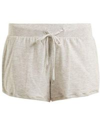 Skin - Finley Stretch-cotton Pyjama Shorts - Lyst