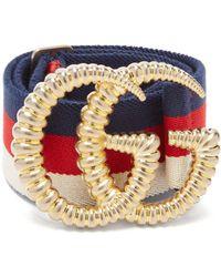 Gucci - Web Crystal-embellished Plexiglas Cuff - Lyst