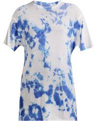 The Elder Statesman - T-shirt tie-dye en cachemire et soie - Lyst