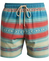 Faherty Brand | Aztec Striped-print Shorts | Lyst
