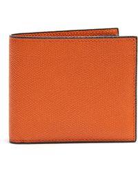 Valextra - Bi Fold Grained Leather Wallet - Lyst
