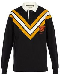 Gucci - Tiger Patch Cotton Rugby Shirt - Lyst