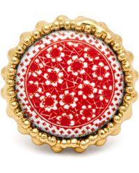Rosantica By Michela Panero - Ciucciue Ceramic Tile Signet Ring - Lyst