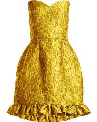 Emilio de la Morena - Golde Floral Jacquard Strapless Mini Dress - Lyst