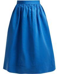 Marni - High Rise Cotton Drill Midi Skirt - Lyst