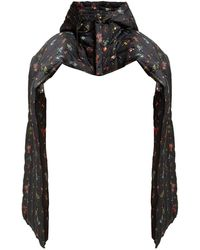 Preen By Thornton Bregazzi - Pippa Floral Print Padded Cotton Blend Scarf - Lyst