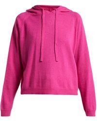 Allude - Wool-blend Hooded Sweatshirt - Lyst