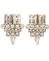 Saint Laurent - Crystal-embellished Clip-on Earrings - Lyst