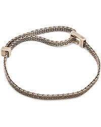 Title Of Work - Macro-mesh Sterling-silver Bracelet - Lyst