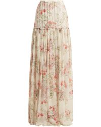 Giambattista Valli | Lily Of The Valley-print Silk-georgette Skirt | Lyst