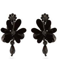 Simone Rocha - Floral Drop Beaded Earrings - Lyst