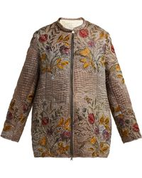 By Walid - Samia Embroidered 19th Century Silk Jacket - Lyst