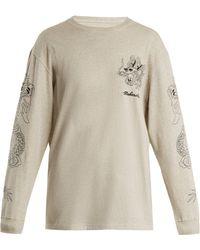 Maharishi - Stencil Dragon Logo-embroidered Cotton Sweatshirt - Lyst