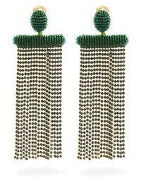 Oscar de la Renta - Waterfall Tassel-drop Clip-on Earrings - Lyst