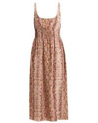 Emilia Wickstead - Giovanna Python Print Silk Dress - Lyst