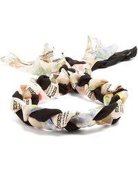 Gucci   Invite And Flowers-print Braided-silk Headband   Lyst