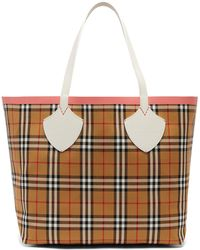 Burberry - The Giant Medium Reversible Cotton Tote Bag - Lyst