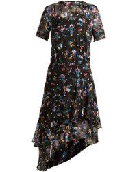 Preen By Thornton Bregazzi - Adara Floral-print Silk-blend Dress - Lyst