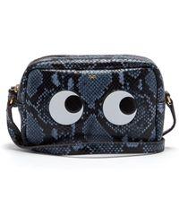Anya Hindmarch - Eyes Python Effect Leather Cross Body Bag - Lyst