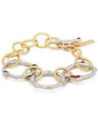 Marni - Crystal Embellished Chain Link Bracelet - Lyst