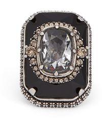 Alexander McQueen - Crystal Embellished Ring - Lyst