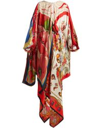 Marine Serre - Scarf Print High Neck Silk Dress - Lyst