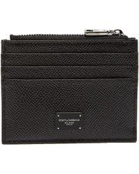 Dolce & Gabbana - Grained Leather Cardholder - Lyst
