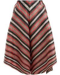 Pleats Please Issey Miyake - Union Stripe Pleated Trousers - Lyst