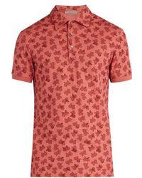 Bottega Veneta - Butterfly-print Polo Shirt - Lyst