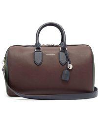 Alexander McQueen - Colour-block Leather Duffle Bag - Lyst