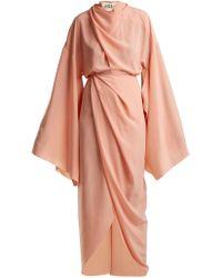 Awake | High-neck Draped Woven Dress | Lyst