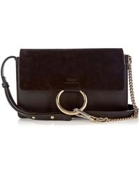 Chloé - Faye Small Suede And Leather Shoulder Bag - Lyst
