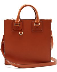 Sophie Hulme - Albion Square Leather Tote Bag - Lyst