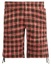 Missoni - Checked-knitted Cotton-blend Cargo Shorts - Lyst