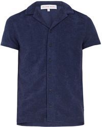 Orlebar Brown - Travis French Terry-towelling Polo Shirt - Lyst