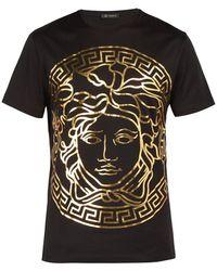 Versace Medusa Gold Print T Shirt
