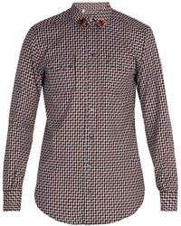 Dolce & Gabbana - Heart Patch Cotton Shirt - Lyst