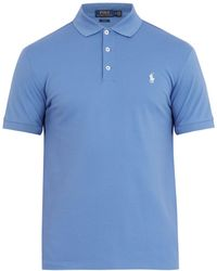 Polo Ralph Lauren - Logo-embroidered Stretch-cotton Piqué Polo Shirt - Lyst