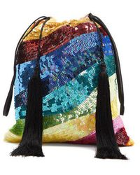 Attico - Sequin-embellished Tassel Pouch - Lyst