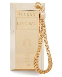 Lynn Ban - Bullion Bar Gold-plated Wristlet Bag - Lyst