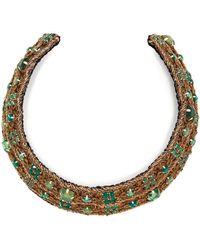 Rebecca de Ravenel - Carmen Embellished Collar - Lyst