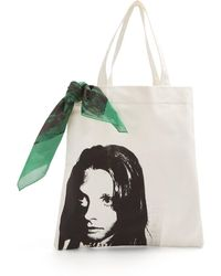 CALVIN KLEIN 205W39NYC - Face-print Canvas Tote Bag - Lyst