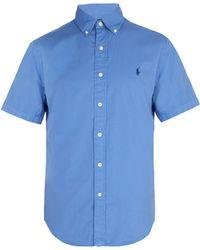 Polo Ralph Lauren - Logo-embroidered Short-sleeve Cotton Shirt - Lyst