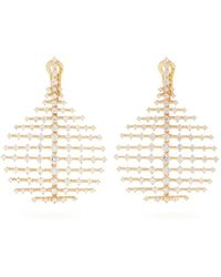 Fernando Jorge - Diamond & Yellow Gold Disco Earrings - Lyst