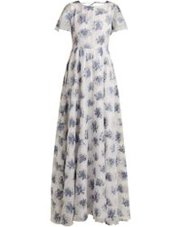 Athena Procopiou - In The Hills Floral-jacquard Dress - Lyst