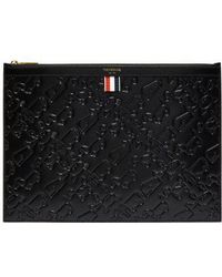 Thom Browne - Embossed Leather Document Holder - Lyst