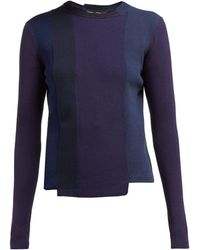 Proenza Schouler - Panelled Knitted Sweater - Lyst